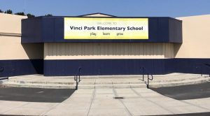 Front of the Vinci Park Elementary School